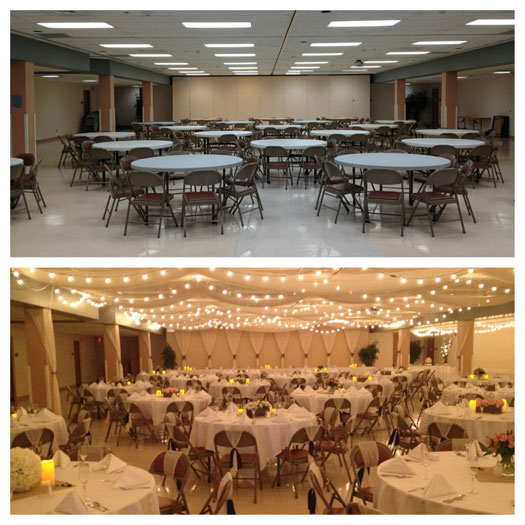 decorating a hall for a wedding a beautiful reception on a budget hitch studio 3354