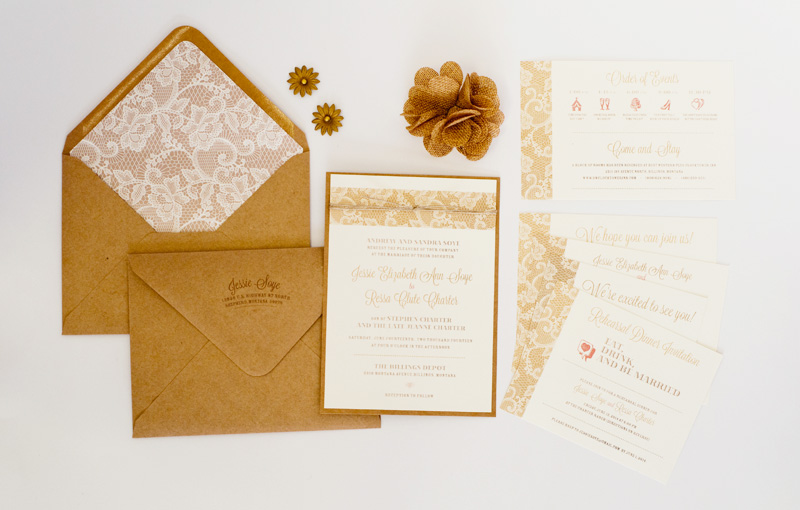 country chic - Mailing Wedding Invitations
