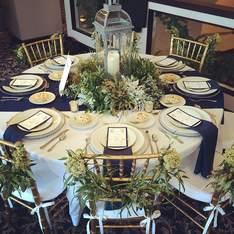 Wedding greenery centerpiece hitch studio