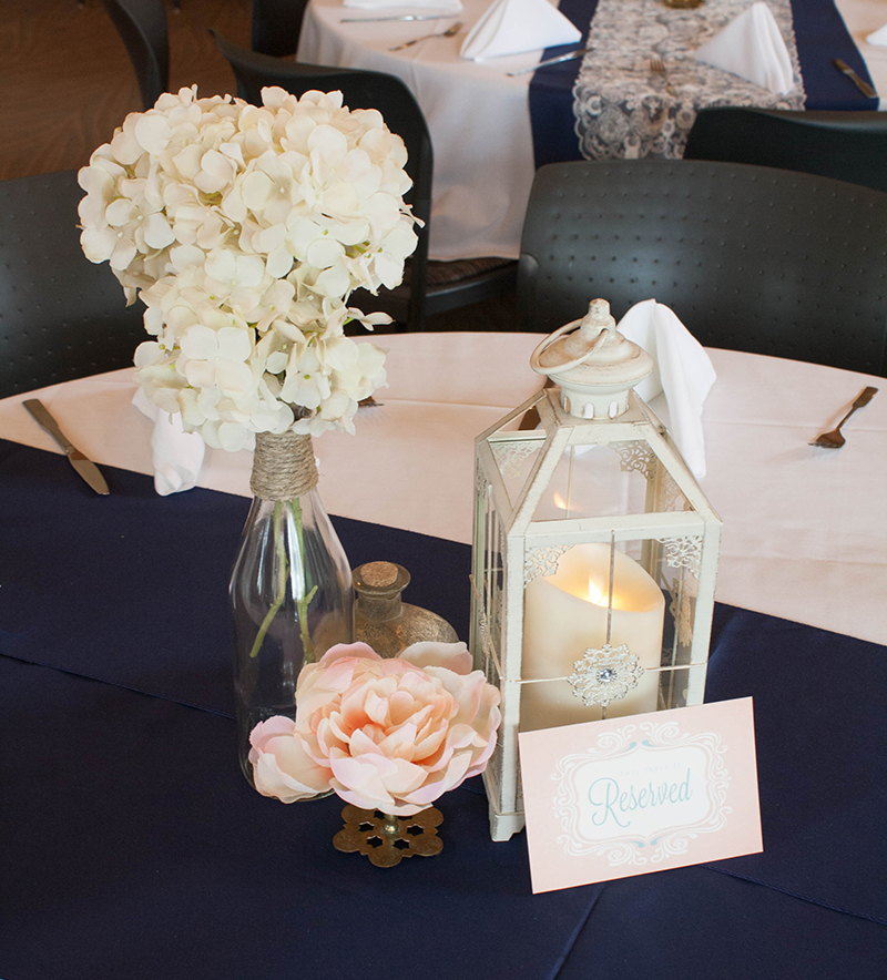 Outdoor Wedding At Mccrory Gardens With Navy Blush Pink And Gold
