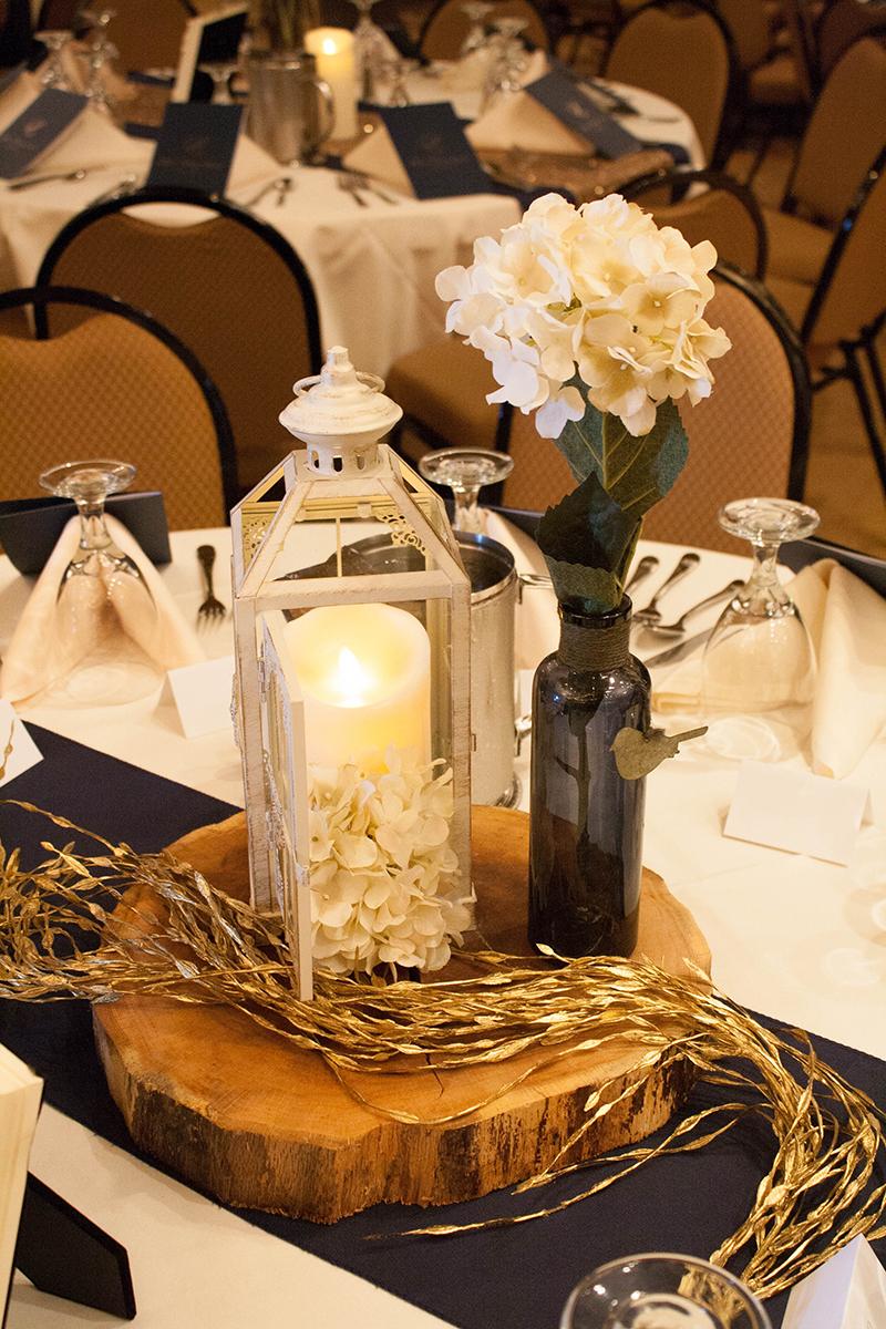 South Dakota Wedding With Gold Sparkle Navy Blue And True