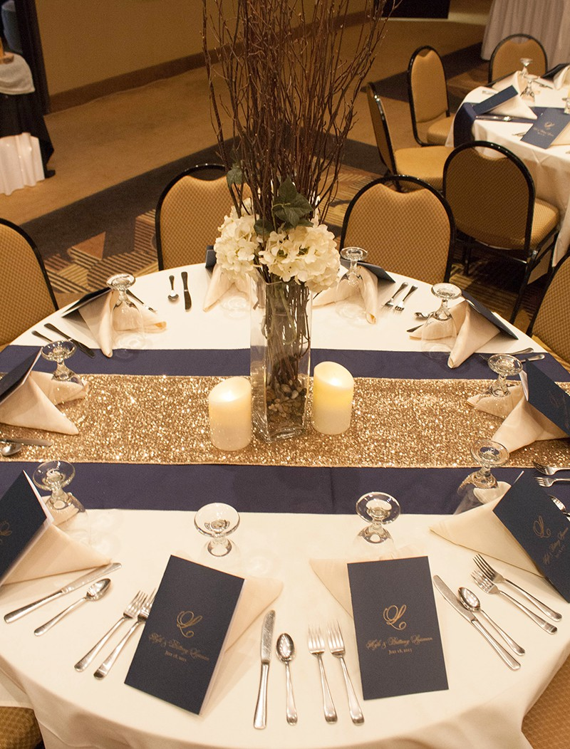 South Dakota Wedding With Gold Sparkle Navy Blue And True