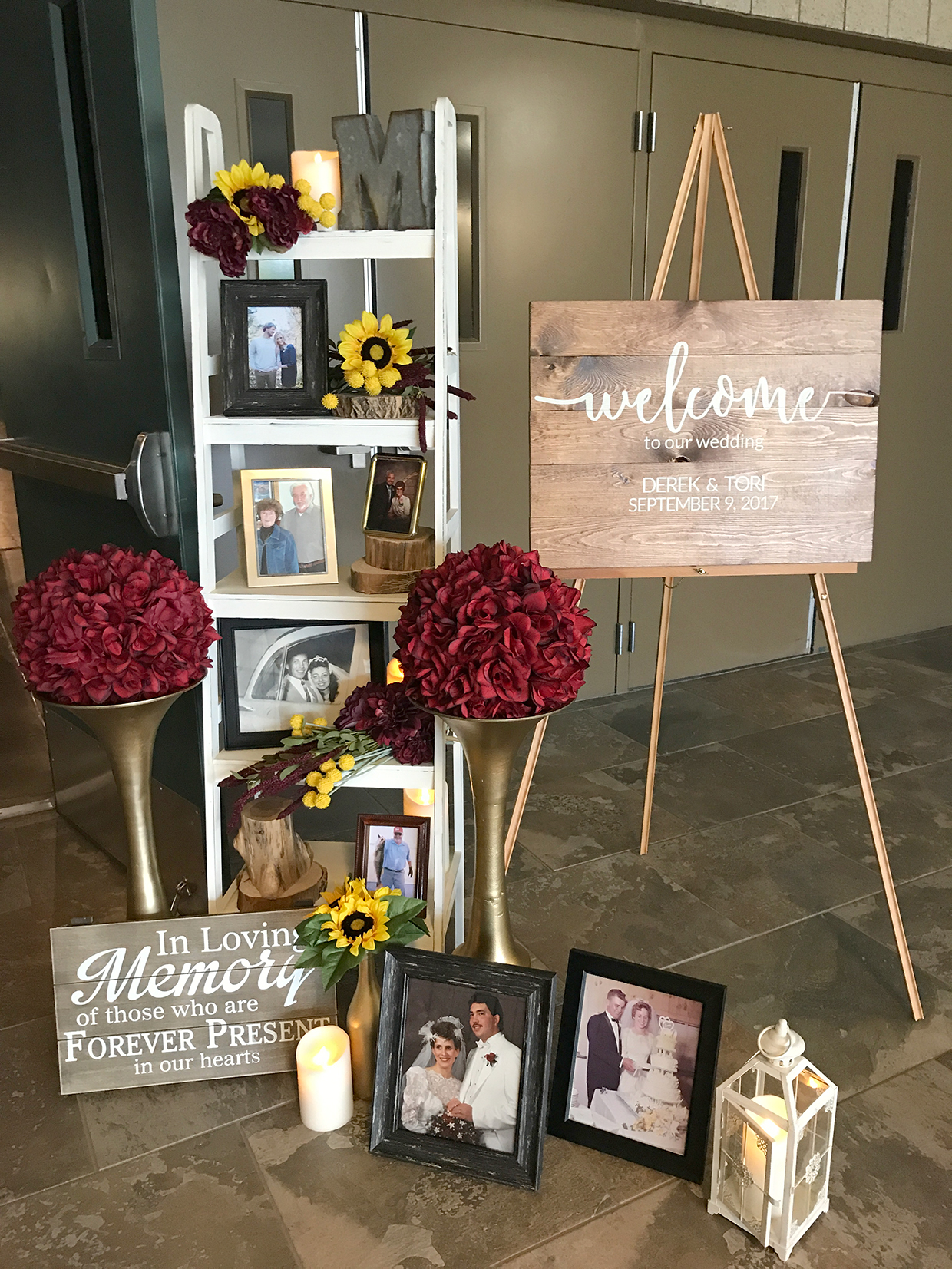Outdoor Wedding Full Of Sunflowers Burgundy And Perfect Weather