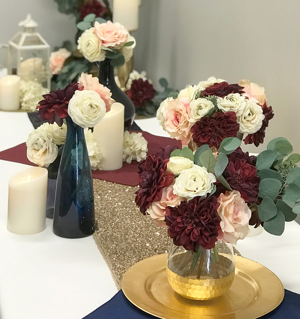 trending wedding colors for 2018  burgundy and dusty