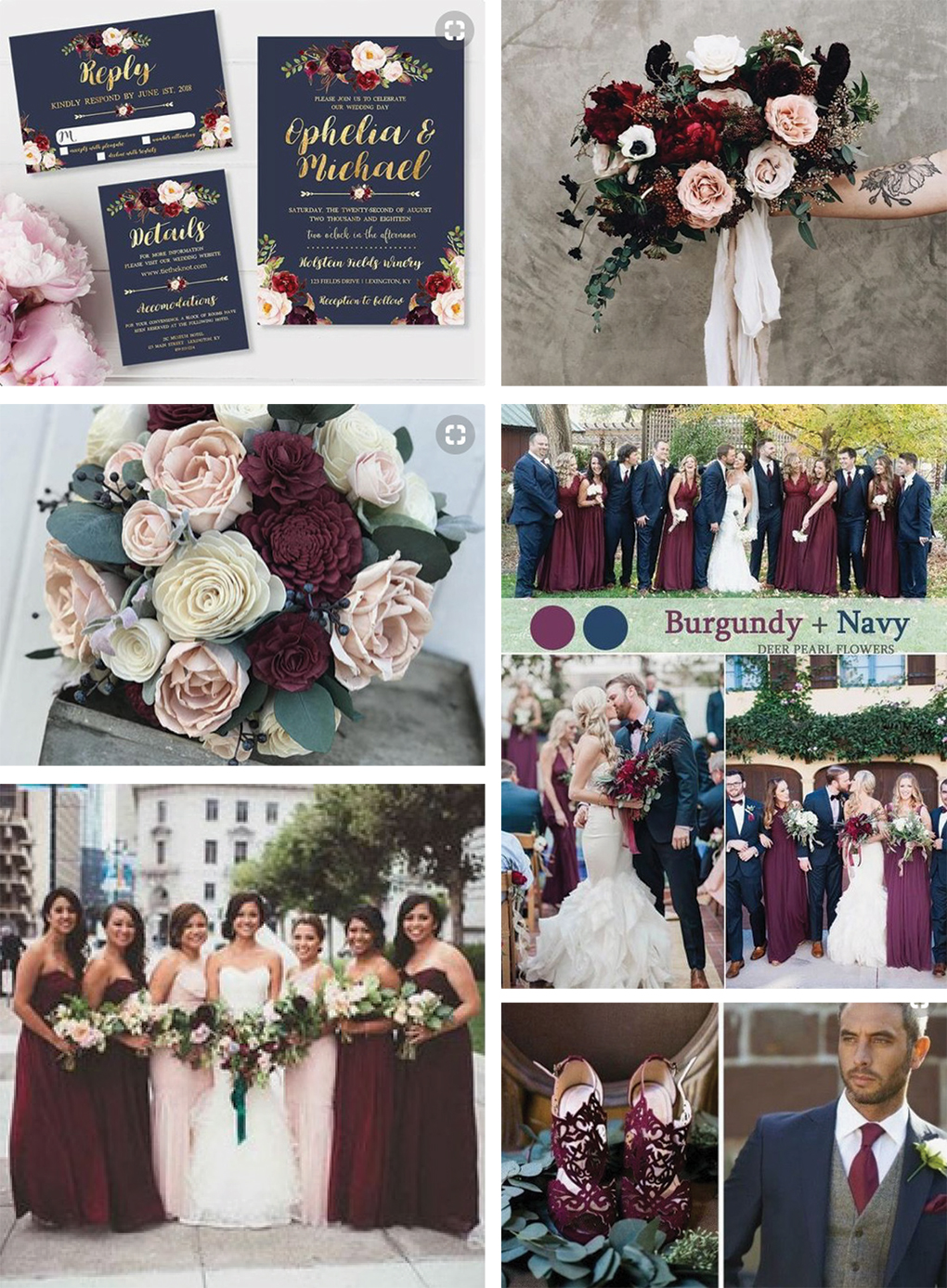 Trending Wedding Colors for 8: Burgundy and Dusty Purple