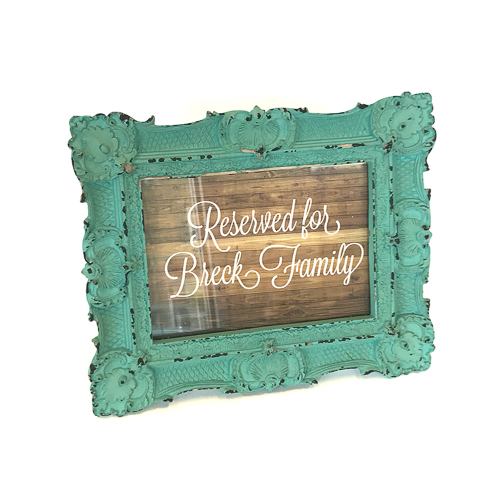 WeddingDecor-Aqua-Mint-Frame