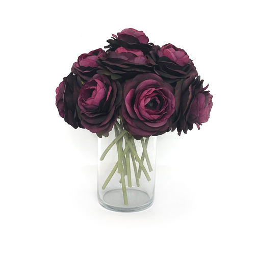WeddingDecor-Eggplant-Ranunculus