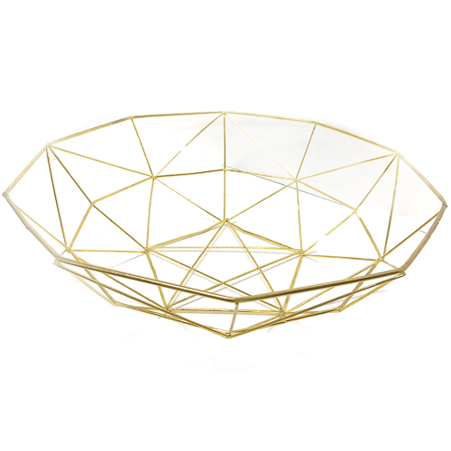 WeddingDecor-Gold-Geometric-Basket