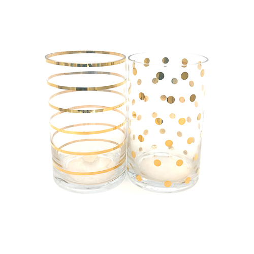 WeddingDecor-Gold-Stripe-Dot-Vase