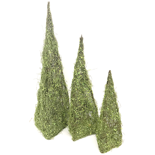 WeddingDecor-Green-Cone-Trees-Tall