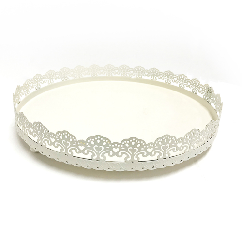 WeddingDecor-Ivory-Lace-Tray
