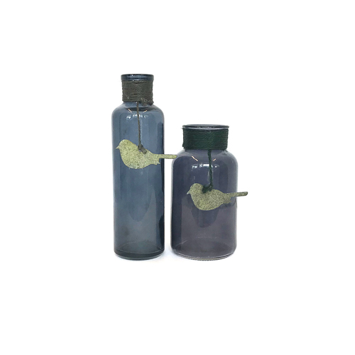 WeddingDecor-Navy-Blue-Bottles