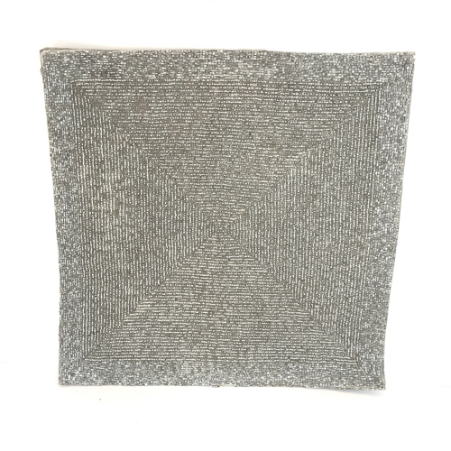 WeddingDecor-Silver-Beaded-Glitter-Mat