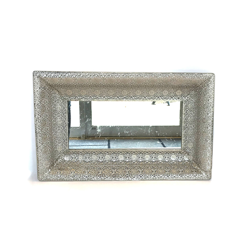 WeddingDecor-Silver-Lace-Tray-Rectangle